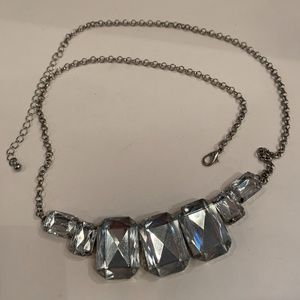 Gorgeous Statement Necklace with Clear Stones